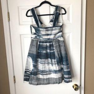 Anthropologie Dresses - Anthropologie Sine stormy seascape blue dress
